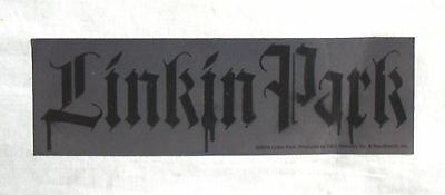 RARE Vinyl STICKER Decal LINKIN PARK Grey GOTHIC Logo S3207 16.5cm x 5cm Rock