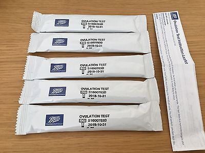 New In Packaging Boots Ovulation Test Sticks X5 + Instructions