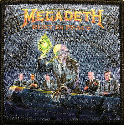 """MEGADETH AUFBÜGLER / EMBROIDERY PATCH # 19 """"RUST IN PEACE"""" - 8x8cm"""