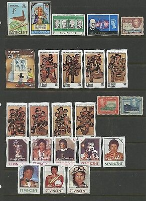 ST VINCENT--Lot of 24 different stamps