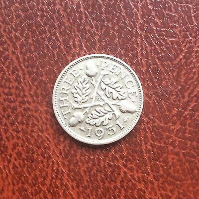 George V Silver 3 Pence Coin 1931