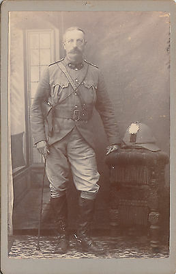 Superb cabinet photograph of a military man by Thos S Birkill Cradock