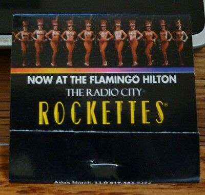 Matchbook Flamingo Hilton Rockettes 30 Unused Mint -