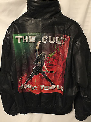 The Cult Sonic Temple One Of A Kind Painted Vintage Leather Jacket (Size Large)