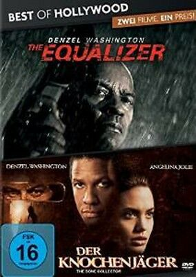 The Equalizer + Der Knochenjäger 2 DVDs NEU OVP 2 Filme Denzel Washington