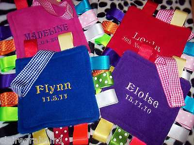 Personalised Baby Buggy/carseat Taggy Toy/gift