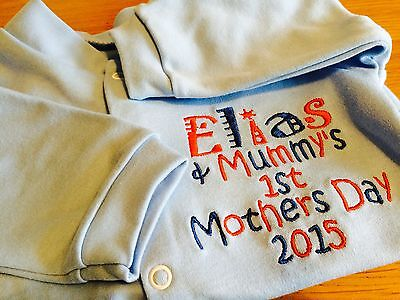 Personalised Baby Sleepsuit/Babygrow Fathers Day,Mothers Day, Any Occasion