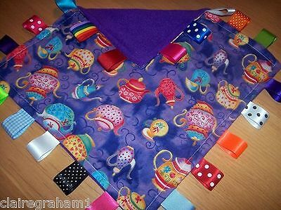Teapot Baby/Toddler Taggy Blanket/Comforter/Gift *****Many Options*****