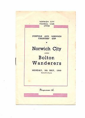 1948 -1949  Friendly  Norwich City v Bolton Wanderers