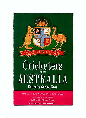 1961 Cricketers From Australia   - Official  Tour of England