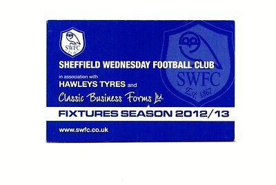 Fixture Booklet - Sheffield Wednesday 2012-2013