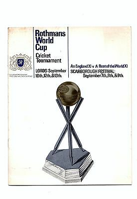 1966 Rothmans World Cup Cricket Tournament