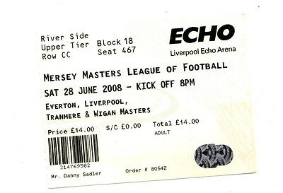 2008 Ticket Mersey Masters League of Football  Everton Liverpool Tranmere Wigan