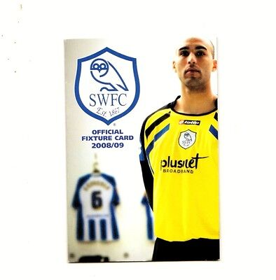 Fixture Booklet - Sheffield Wednesday 2008-2009
