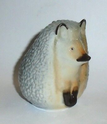 Lomonosov Made in Russia Hand Painted Porcelain Hedgehog Figurine