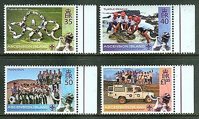 Ascension Island 2007 Centenary of Scouting on Set of Four Stamps MNH