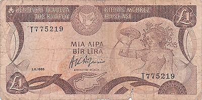 Cyprus Banknote - 1 One Pound from 1985