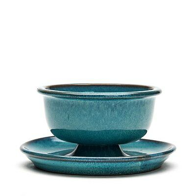 Carter Stabler Adams Chinese Blue Glazed Bowl On Stand 1920