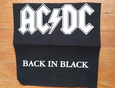 AC/DC Back in Black Backpatch *NEW* Classic Rock Brian Johnson Bon Scott Angus