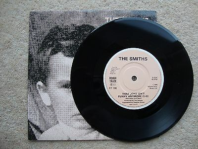 "The Smiths ~ THAT JOKE ISN'T FUNNY ANYMORE ~  7"" SINGLE 1985 PIC SLEEVE"