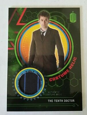 Dr. Doctor Who Extraterrestrial Encounters .. Tenth Doctor Costume Relic #20/199