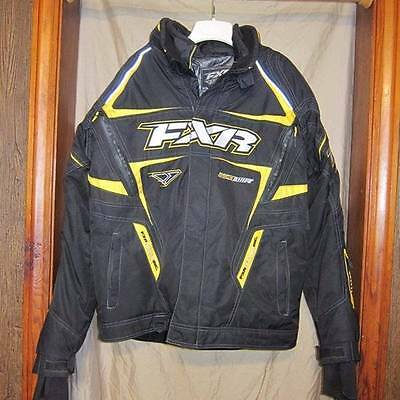 Black and Yellow FXR Backshift Jacket Coat Mens Size XL