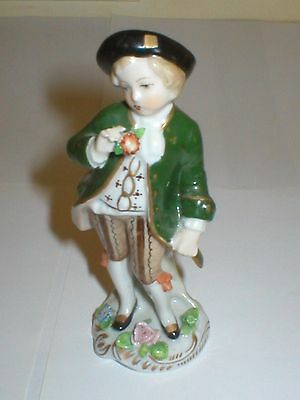Sitzendorf Figure Gentleman With Flower Figurine