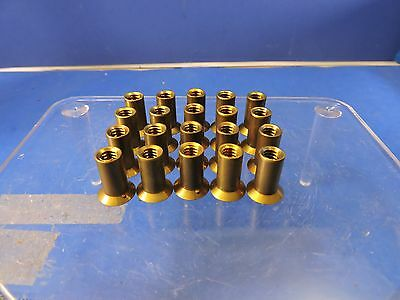 20 Vintage Solid Brass Bfg Aviation Rivnuts Marked 25K151