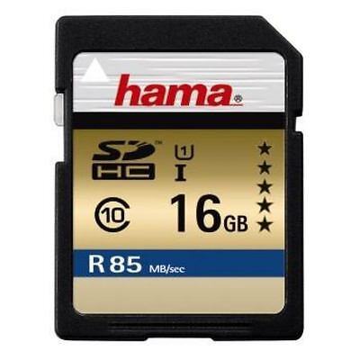 Hama 00114947 - 16GB Memory Card -  SDHC 16GB UHS Speed Class 3 UHS-I 85MB/s