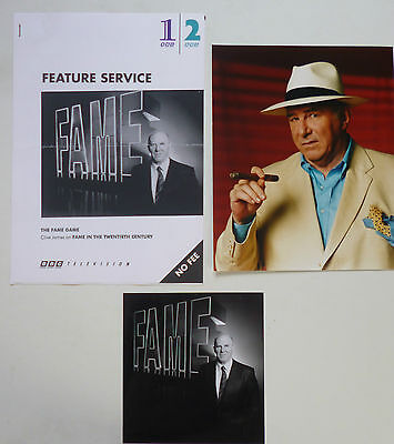 Clive James - The Fame Game -  original BBC Press feature and photos, 1990s