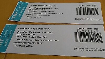 2 x Stitching, Sewing & Hobbycrafts Tickets (Manchester, Sat 9th Sept 2017)
