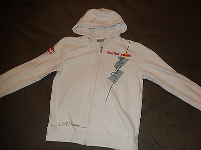 Red Bull Athlete Only white hoodie sweater sweat jacket sz M >VERY RARE<