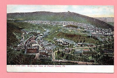 Birds Eye View of Mauch Chunk Jim Thorpe Pennsylvania Undivided 1905 Postcard