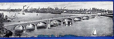 Bulkeley Bridge Looking West over the Connecticut River, Hartford 1908 Postcard