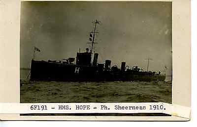 E779 Rp 1910 Uk Royal Navy Ship Hms '  Hope '  Destroyer At Sheerness