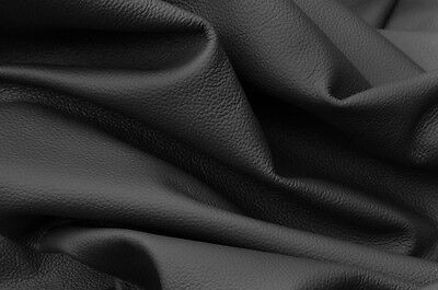 Large Black Leather Full 40 Sq Ft Hide Quality Top Grain Leather