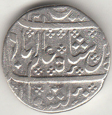 French India Madras Presidency Alamgirii Mint{Arkot}1201 Ry.26 Rupee Silver Coin