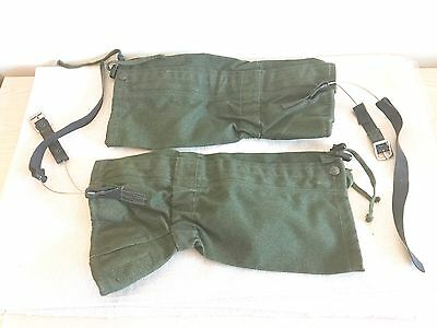 NEW British Army-Issue Olive-Green Canvas Gaiters. Size Standard.