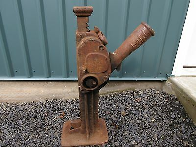 Large Vintage Antique 15 Ton Railroad Jack Barrett Model 1904