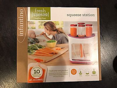 Infantino SQUEEZE STATION w/ 10 Pouches - Fresh Squeezed/Feeding Line - NEW!