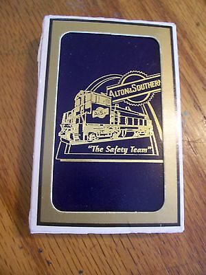 Vintage Alton & Southern  RR railroad Playing Cards in Box