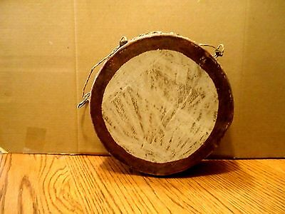 Vintage Authentic Navajo Native American Buffalo Hide Double Sided Drum