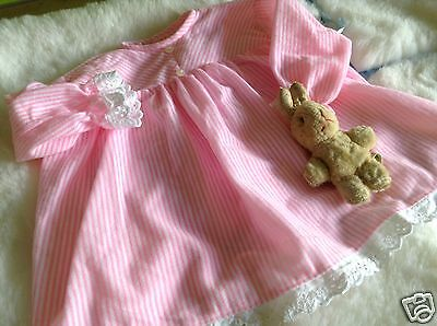 Authentic Vintage Baby infants Girls Childrens  Dress unused 70s 6m Pink