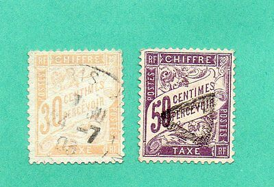 Timbres France Taxes N°34 Et 37 Obliteres.tb .cote 100.00