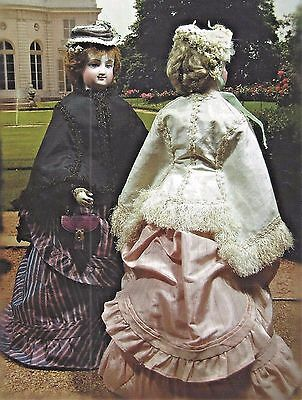 """16-18""""antique French Fashion Lady Doll@1874 Mantle-Cape Variations Pattern"""