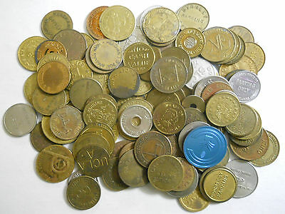 Lot of 100 different parking tokens (1).