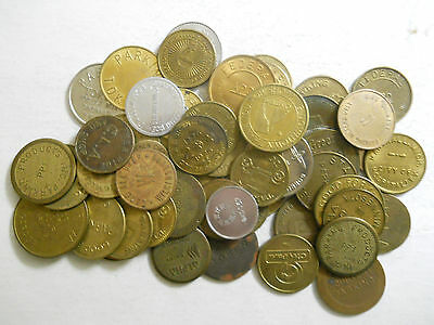 Lot of 50 different parking tokens (1)
