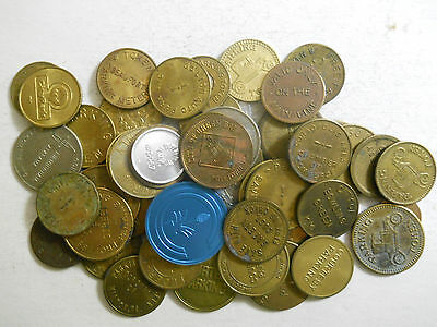 Lot of 50 different parking tokens (#2)
