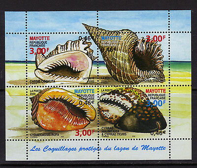 France - MAYOTTE 140 MNH 2000 Sea Shells S/S $8