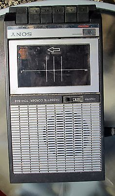 Vintage Sony TCM-848 Portable Audio Cassette Tape Recorder Player and extra's